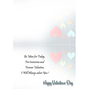 Personalized Valentine Greeting Card 012 backview