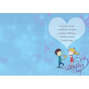 Personalized Valentine Greeting Card 013 backview