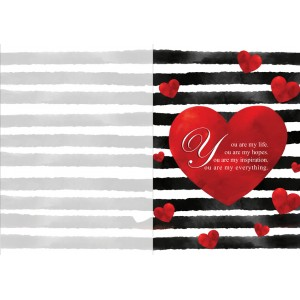 Personalized Valentine Greeting Card 004 backview