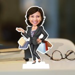 Market Lady Caricature Photo Stand In