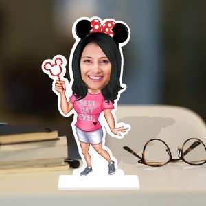 Candy Lady Caricature Photo Stand In