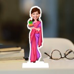 Kalash Lady Caricature Photo Stand In