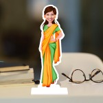 New Saree Caricature Photo Stand In