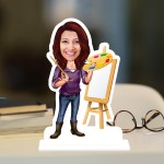 Painter Lady Caricature Photo Stand In