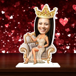 Princess Caricature Photo Stand In