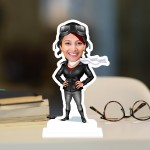 Scarf Lady Caricature Photo Stand In