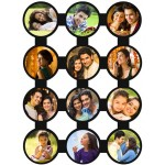 Wooden multi photo personalized 12 pictures collage frame
