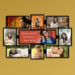 Wooden printed photo collage WC-001