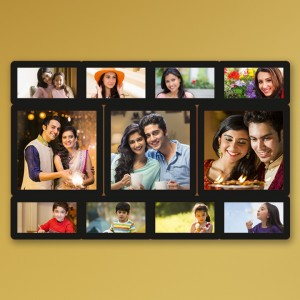 Wooden printed photo collage WC-005