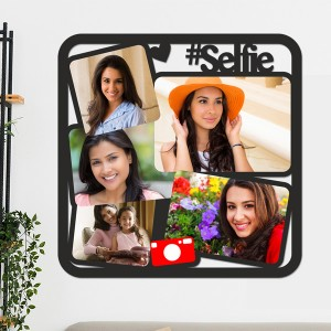 Wooden printed photo collage WC-013