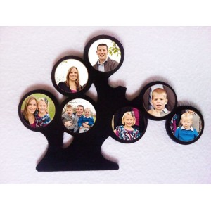 Wooden tree personalized multi photo wall hanging
