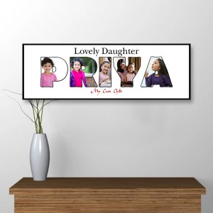 Personalized Wooden Frame Baby Photo Collage 02 backview