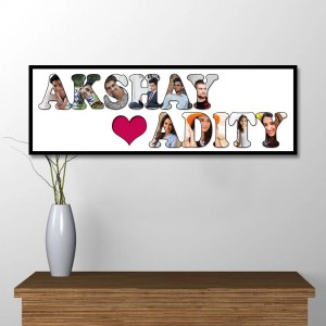 Personalized Wooden Frame Love Photo Collage backview