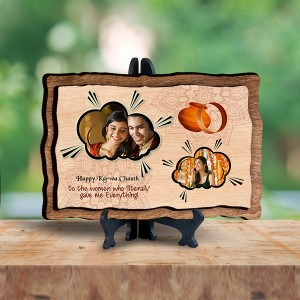Personalized Wooden Photo Frame - Karwa chauth 2