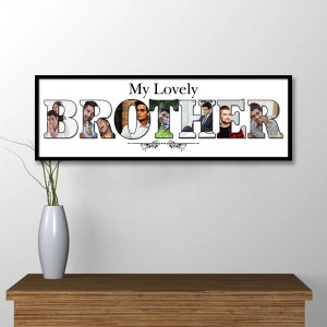 Personalized Wooden Frame Brother Photo Collage backview