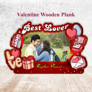 Love Theme Wooden Plank 3 backview