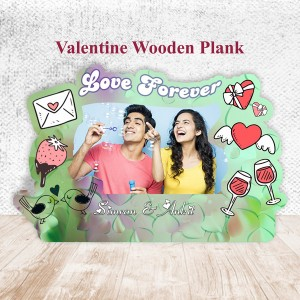 Love Theme Wooden Plank 4 backview