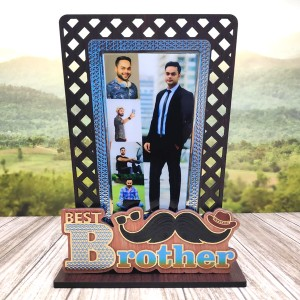 Golden Work Best Brother Personalised Gift backview