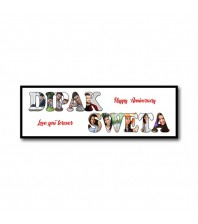 Personalized Wooden Frame Anniversary Photo Collage