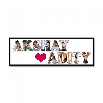 Personalized Wooden Frame Love Photo Collage