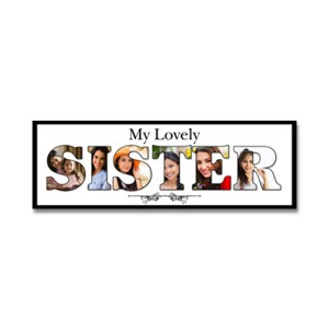 Personalized Wooden Frame Sister Photo Collage