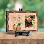 Personalized Wooden Photo Frame - Design Krishna