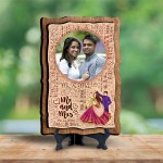 Personalized Wooden Photo Frame - Design Mr. and Mrs.