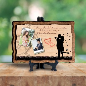 Personalized Wooden Photo Frame - Love 4