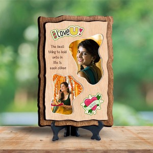 Personalized Wooden Photo Frame - Love 5