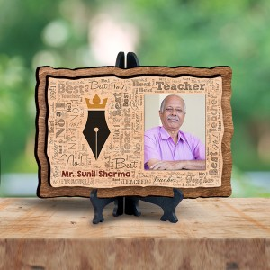 Personalized Wooden Photo Frame - No.1 Teacher