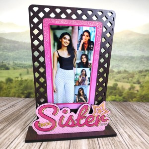 Sparkle Best Sister Personalised Gift backview