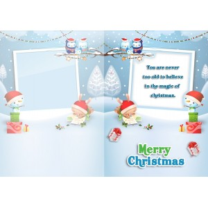 Personalized Christmas Greeting Card 001 backview