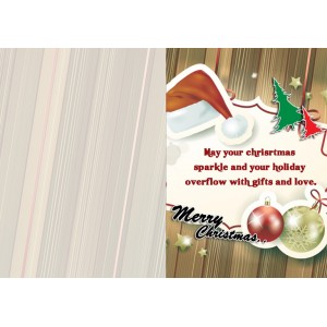 Personalized Christmas Greeting Card 002 backview
