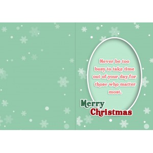Personalized Christmas Greeting Card 004 backview