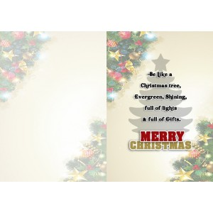 Personalized Christmas Greeting Card 003 backview