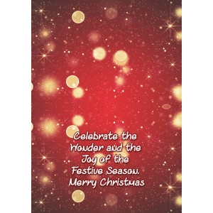 Personalized Christmas Greeting Card 005 backview