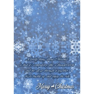 Personalized Christmas Greeting Card 006 backview