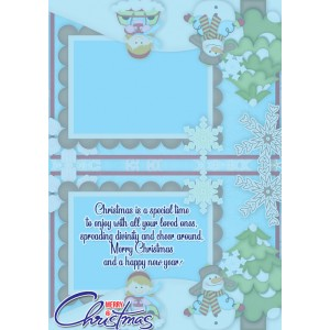 Personalized Christmas Greeting Card 007 backview