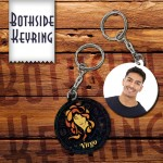 Zodiac Virgo Both side round shape printable plastic keyring
